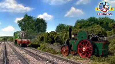 Thomas & friends Henry the train engine Edward the train track line vicarage apple orchard trees