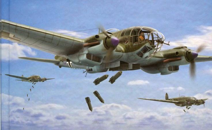 Heinkel He 111 Bomber German Aircraft of WWI...