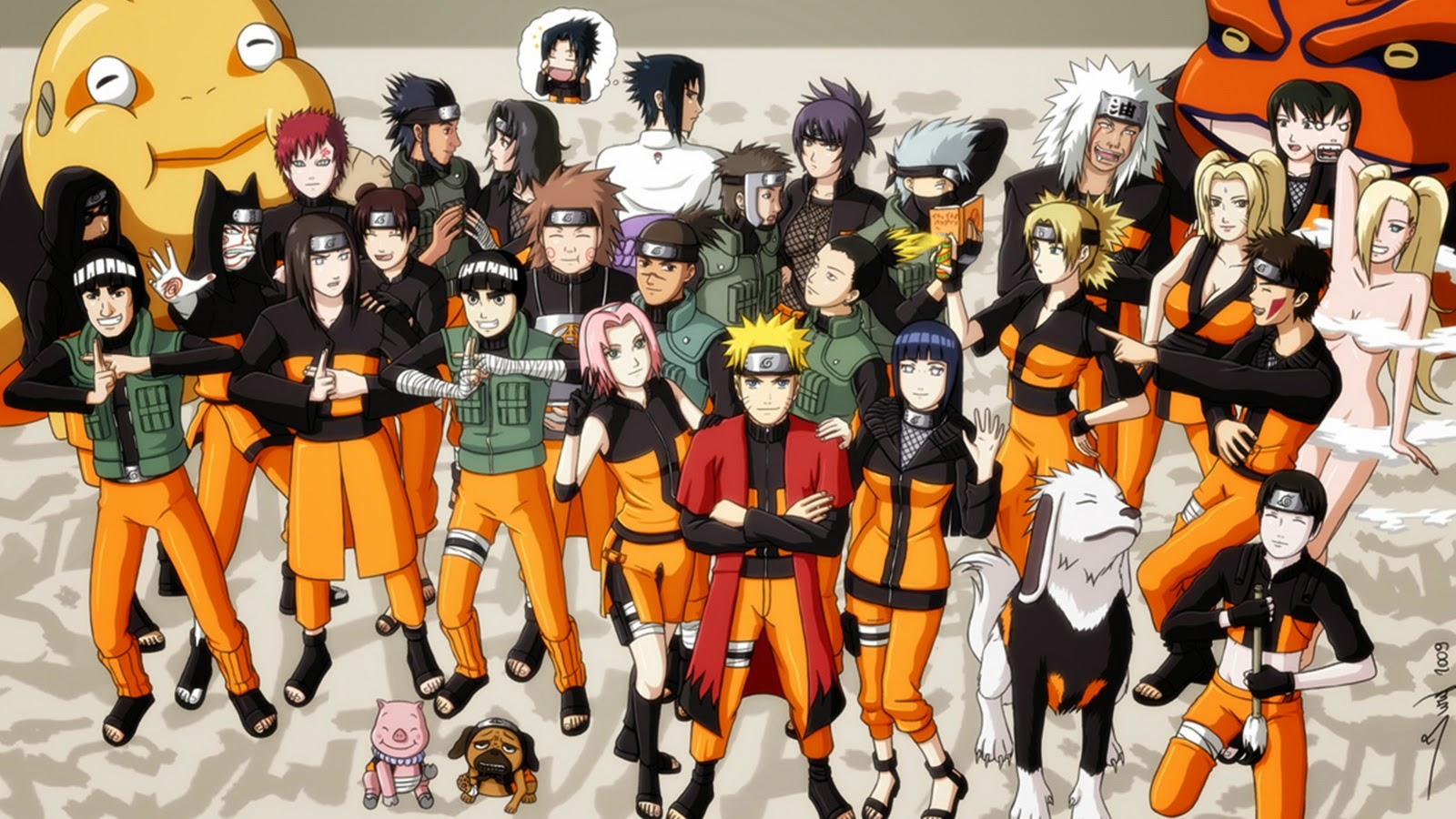 Two fun adventures of naruto and rock lee - All naruto characters ...