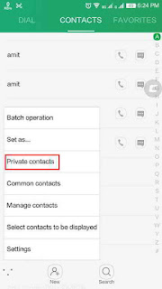 private contact