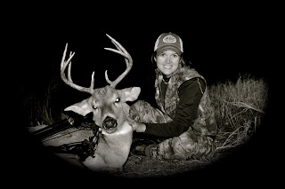 kansas buck deer bow hunting archery women hunters outdoors families
