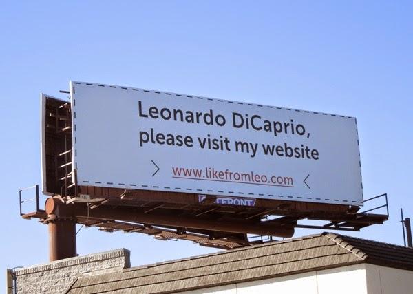 Leonardo DiCaprio please visit my website billboard