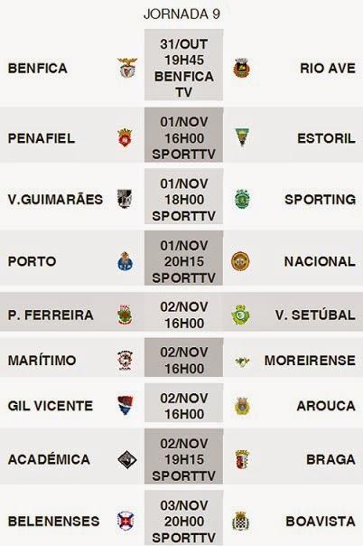 Primeira Liga 2014-2015 9ºJornada