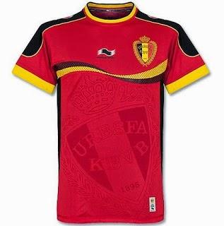 Kostum Timnas Belgia Piala Dunia 2014