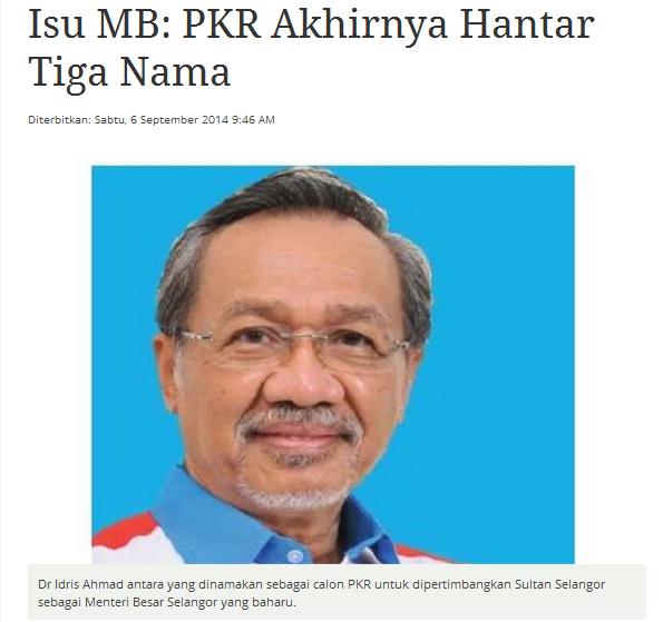 PKR Akhirnya Hantar Tiga Nama Betoi ka