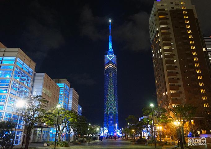 Illuminations de Noël, Fukuoka Tower, Fukuoka