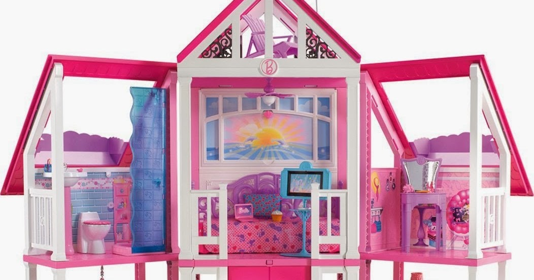 La casa di malibu di barbie con l 39 ascensore e tre piani a for Fantastici piani di casa