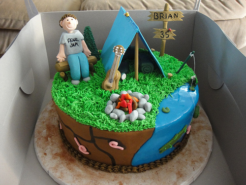 Vesna S Party Blog Camping Birthday Party Cake