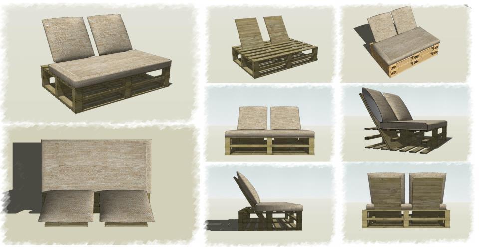 Blog da cida sof de pallets decora o for Sofa palets ikea