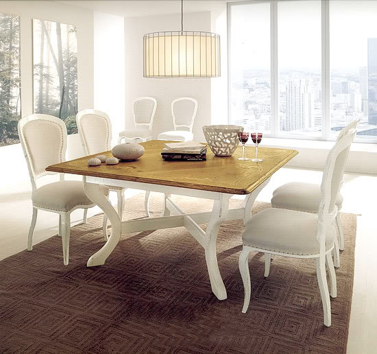 Stunning White with Wood Top Dining Table 550 x 516 · 65 kB · jpeg