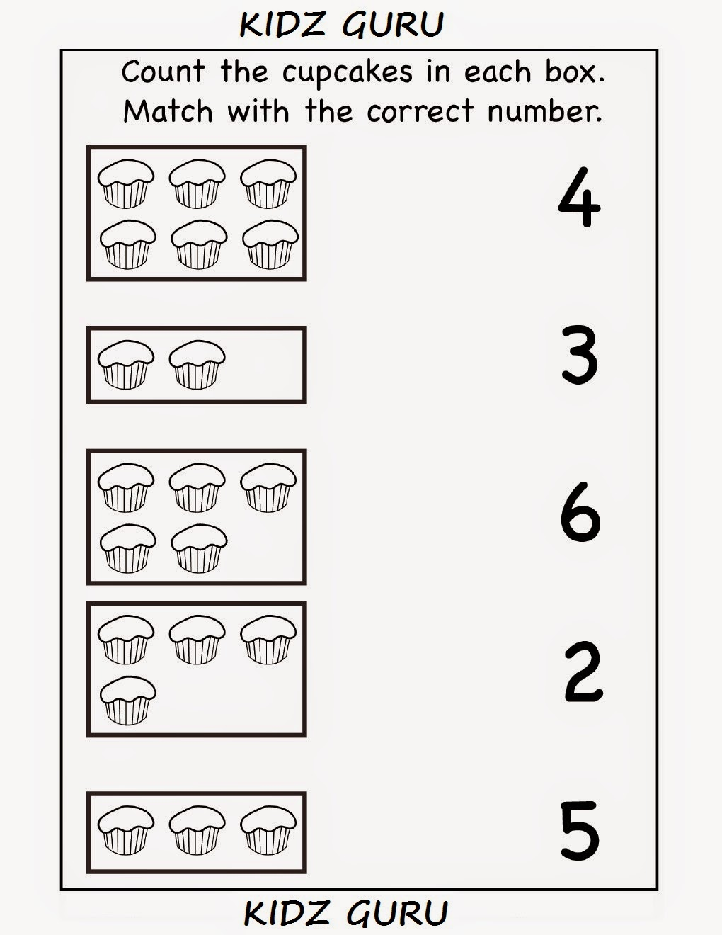 Worksheets Kindergarten Matching Worksheets kindergarten worksheets printable count and match match