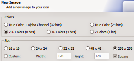 IcoFX Color and Size Options