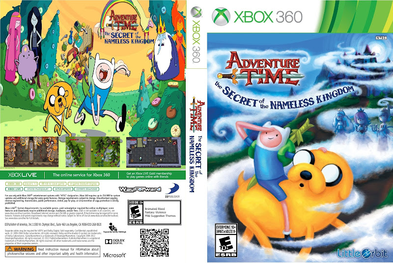Capa Adventure Time The Secret Of The Nameless Kingdom Xbox 360