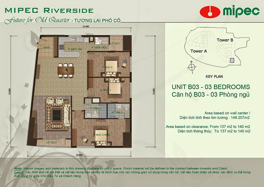 Căn B03 cư xá Mipec Riverside