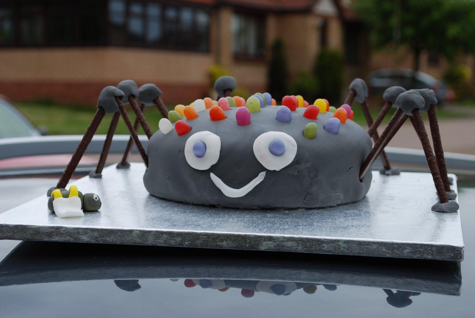 Simple Spider Birthday Cake Heavenly Handmades