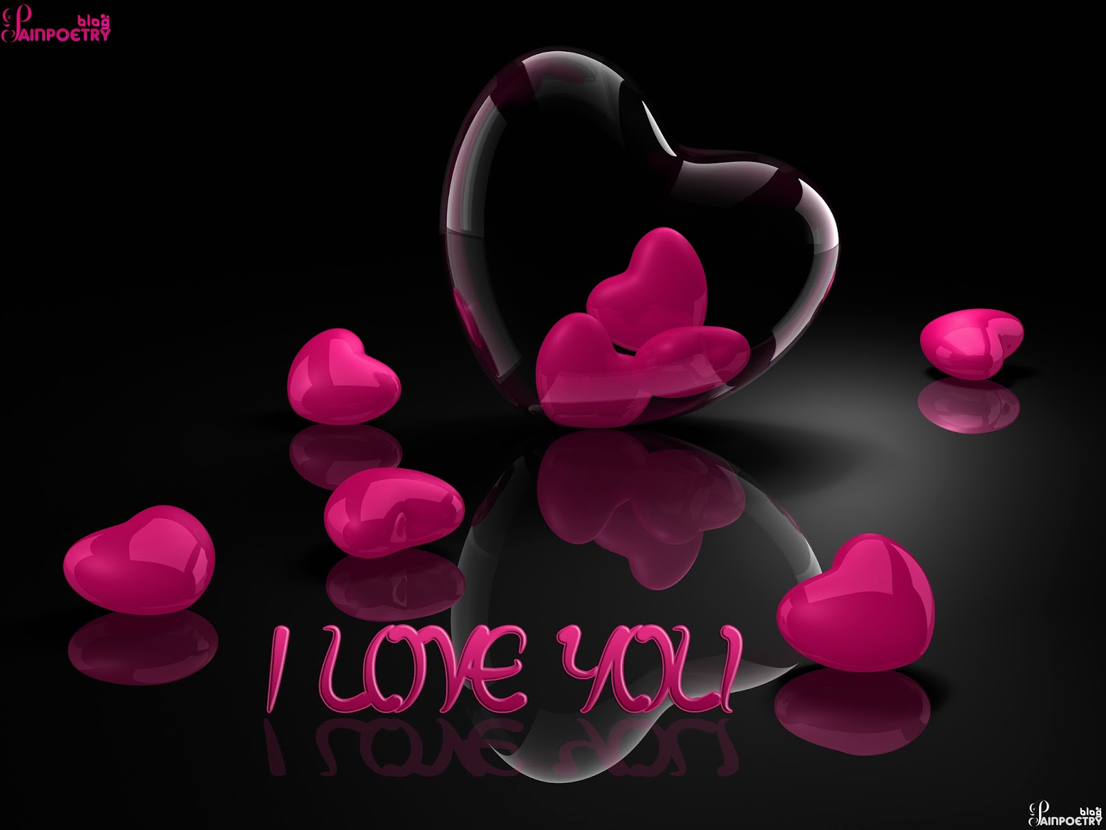Love-Wishes-Wallpaper-With-Droped-Hearts-In-Red-Colour-Image-HD-Wide