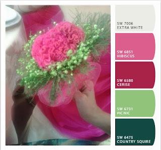 palette fucsia e verde