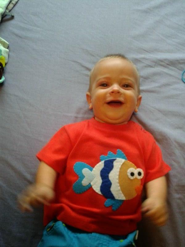 Camiseta infantil pez