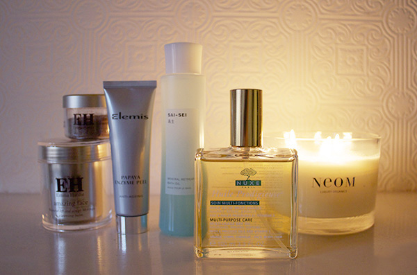 bath time, nuxe, emma hardie, SAI SEI, Space NK, Elemis, NEOM