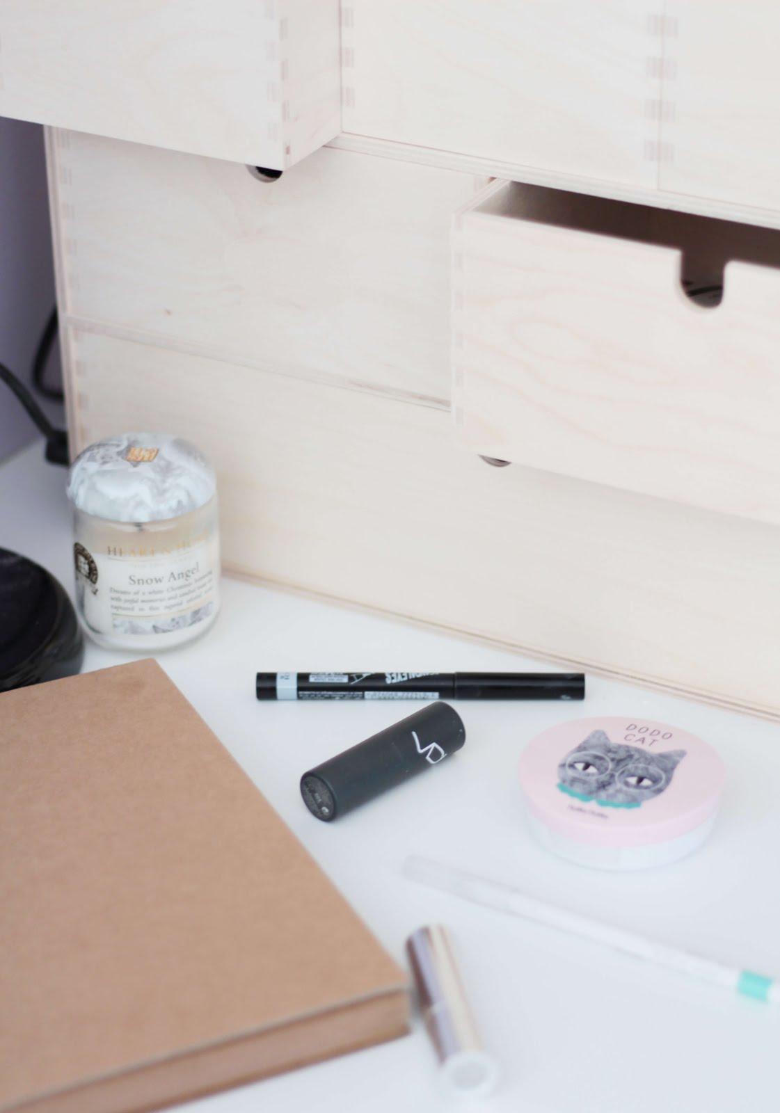 how i store my makeup: ikea moppe drawers | fiixii