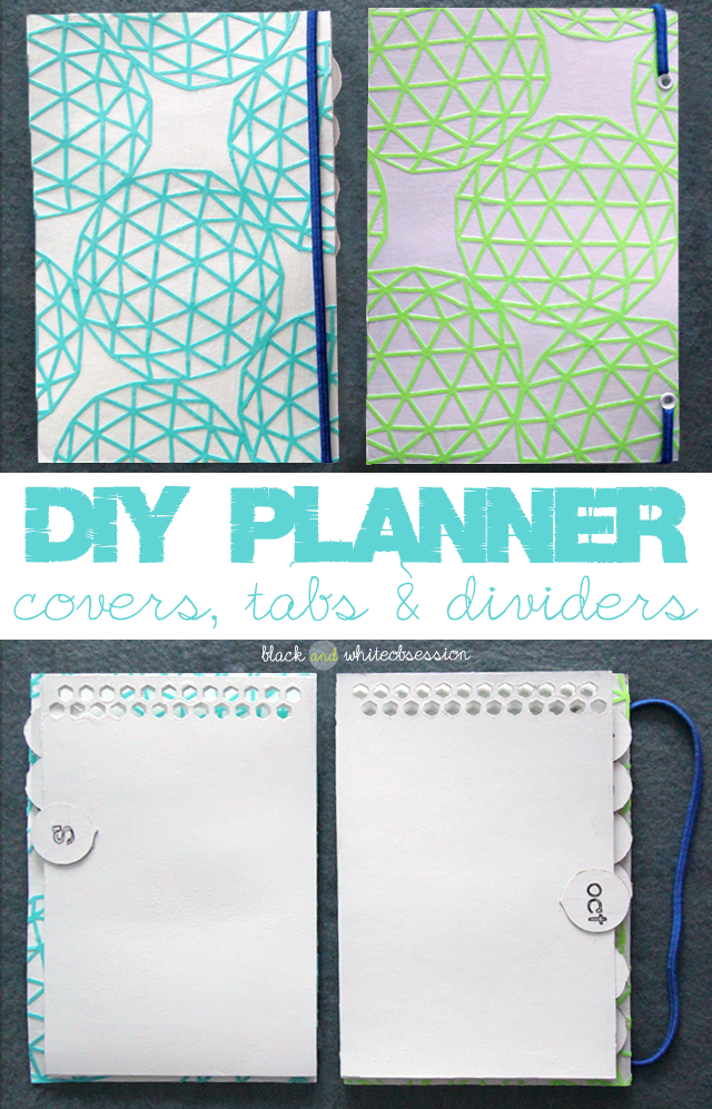 Black and White Obsession | Organize your DIY Planner. How to make Covers, Tabs & Dividers using Food Boxes (like Cereal boxes, Pizza boxes, etc.)