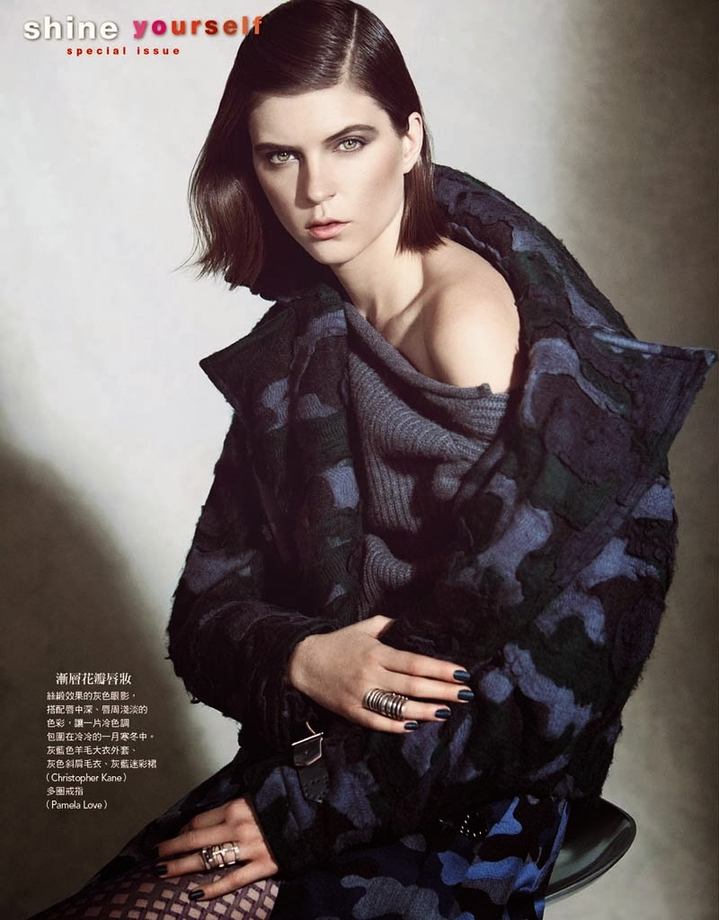 Magazine Photoshoot : Kel Markey Photoshoot For Yossi Michaeli Vogue Magazine Taiwan 2014 Issue