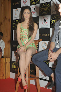 Kiara Advani promotes her movie Fugly in Very Small Green Shining Gown Lovely Red Heels Spicy Pics