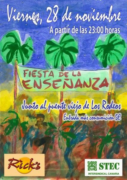Fiesta de la Enseñanza Canarias, 28 noviembre tenerife