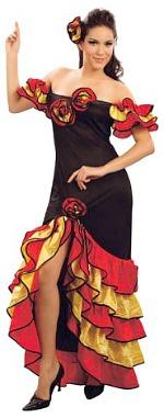 Spanish fancy dress Ladies costume