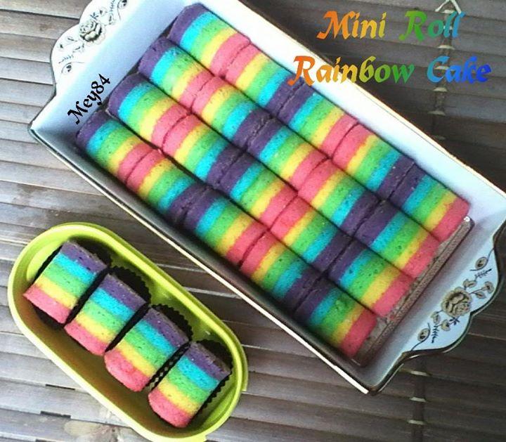 Resep Rainbow Cake Gulung Dari Ny Liem Selalu Berhasil