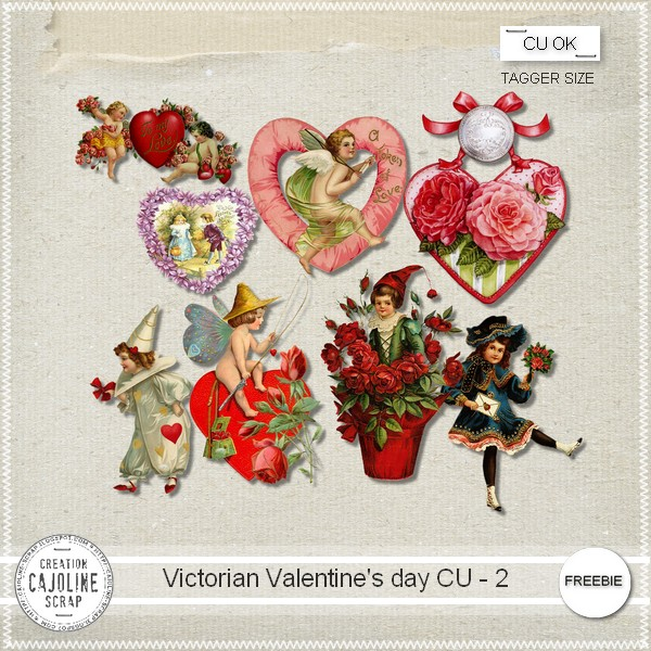 "Free Scrapbook elements ""Victorian valentine's day"" from Cajoline scrap"