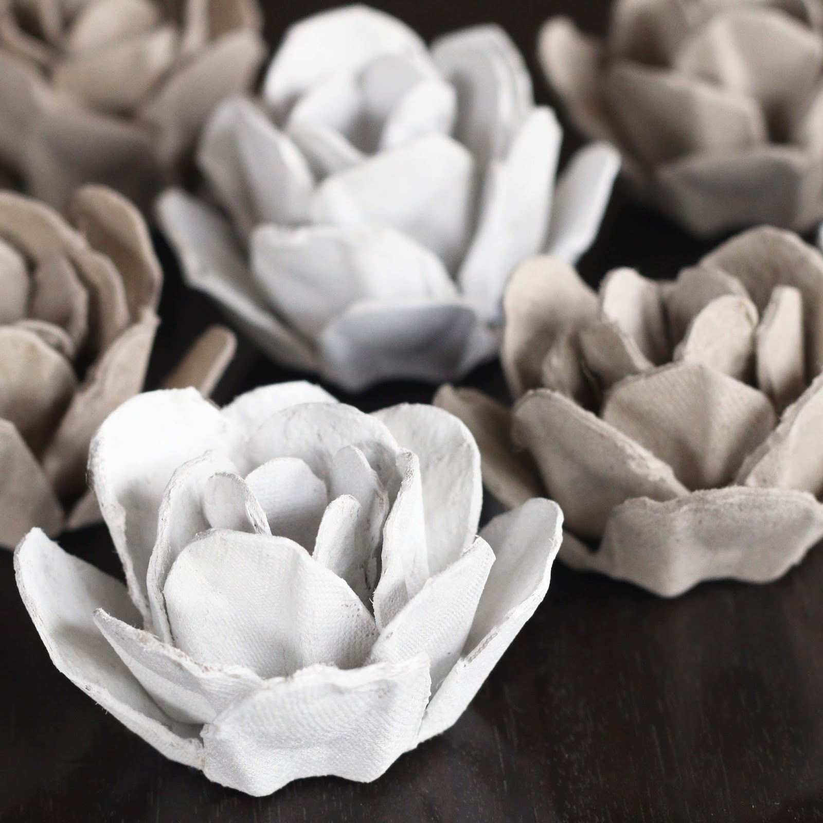 Upcycle Papier Mache Roses From An Egg Carton