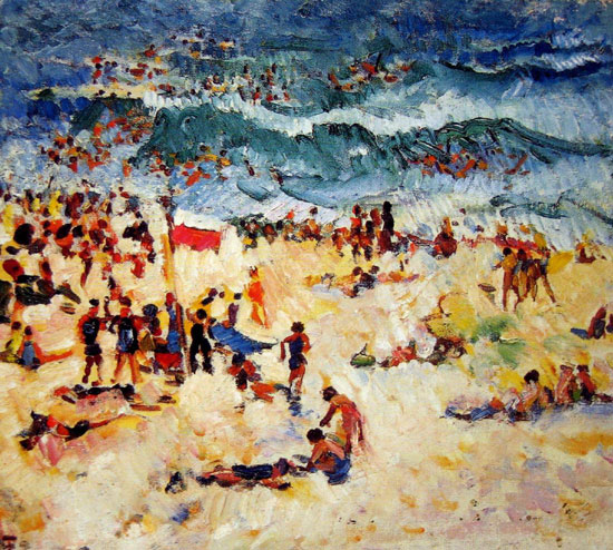JANUARY inspiration is Bondi Scene by Isabelle May Tweddle.