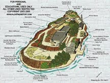 Map of Alcatraz