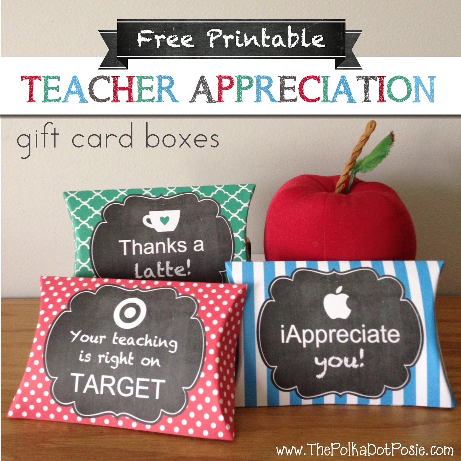image regarding Printable Target Gift Card identify The Polka Dot Posie: Totally free Printable Trainer Appreciation