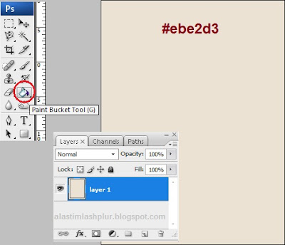 how to use bucket tool in photoshop