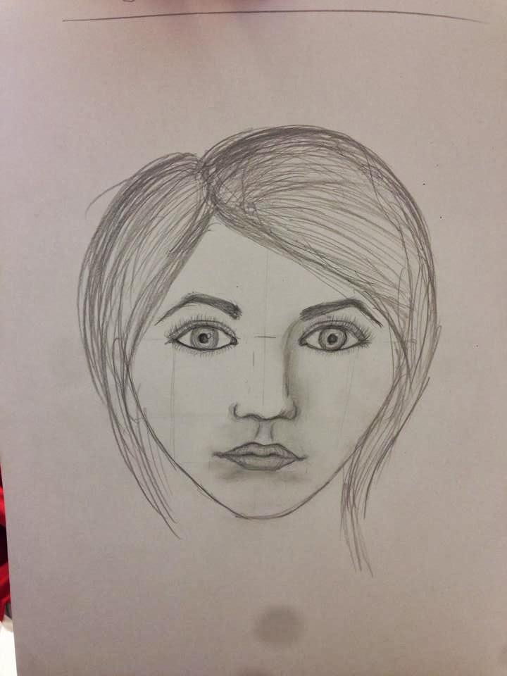 tegne hode og hår