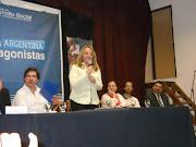 Encuentro en malvinas Argentina de la FBENG y la CNENG con al Ministra . malvinas