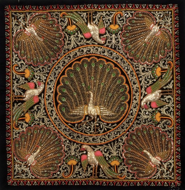 Kalaga wall hanging depicting peacocks