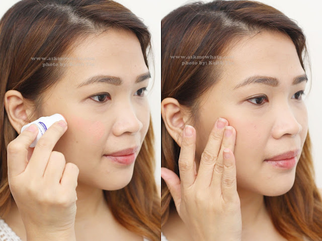a photo on how to use  Celeteque Cheek Color Stick in Peach