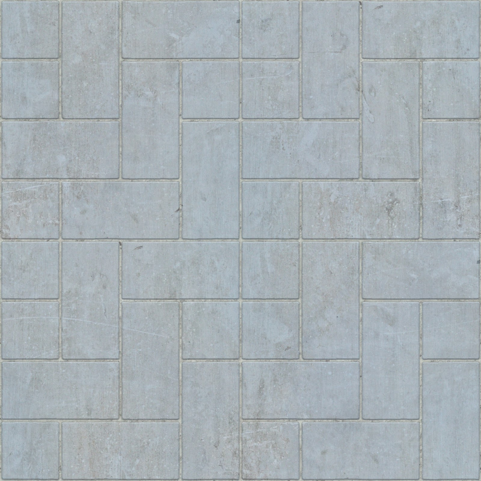 Brick concrete tile floor seamless texture 2048x2048