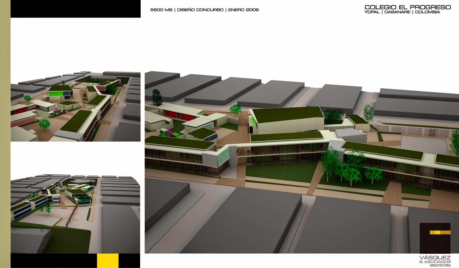 Vasquez y asociados arquitectura ltda colegio el progreso for Genesis arquitectura y diseno ltda