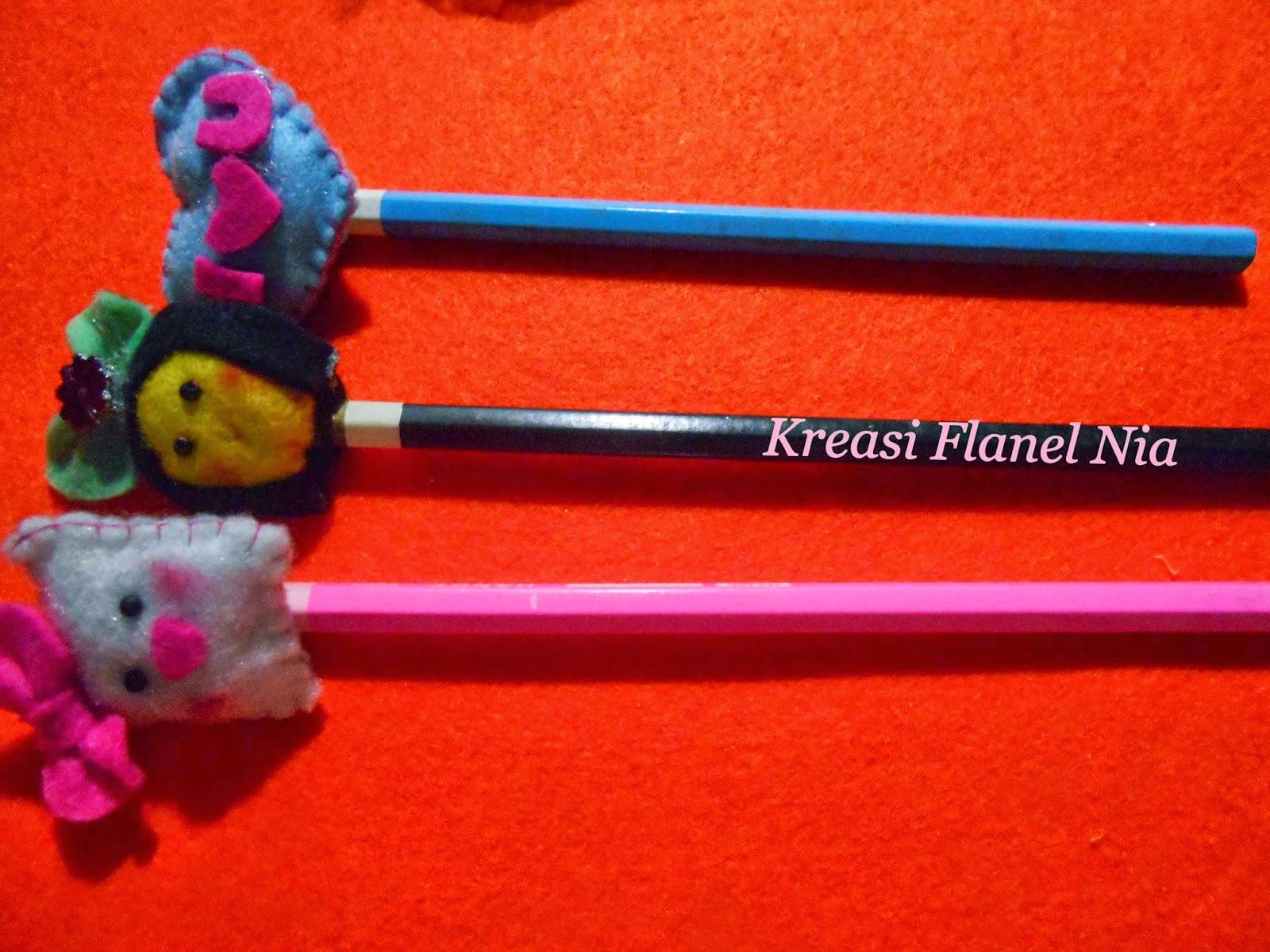 Hiasan Pensil Flanel Lucu