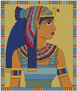 Imagens para bordado - Cleópatra