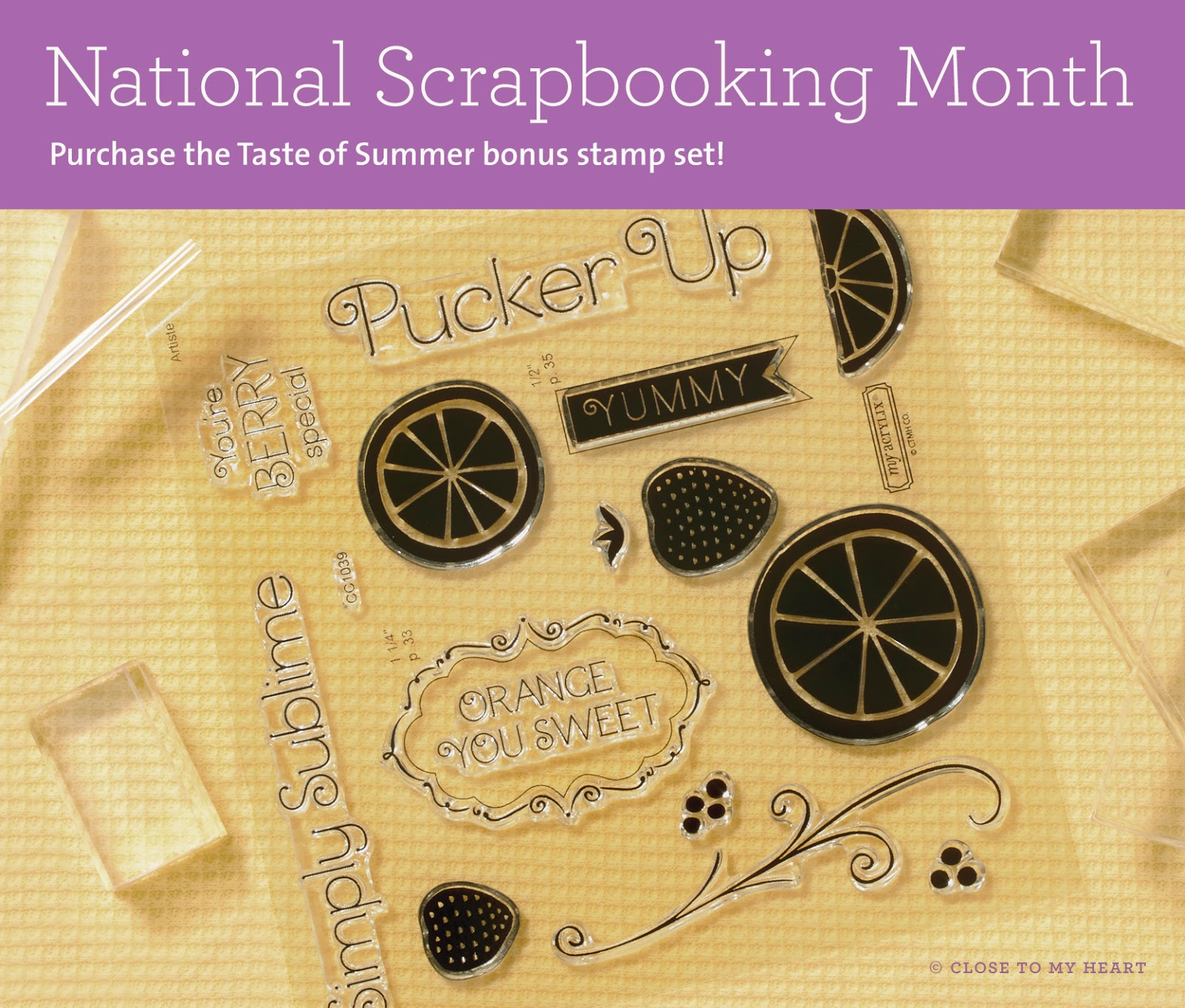CTMH National Scrapbooking Month Stamp Set