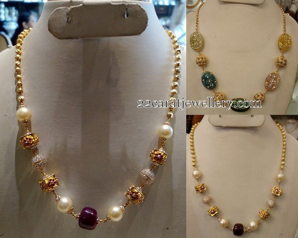 beads multchain gold antique jewellery necklace designs
