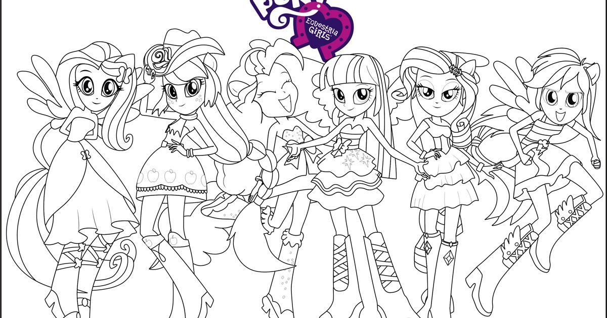 My Little Pony Equestria Girls Coloring Pages Team Colors My Pony Equestria Coloring Printable
