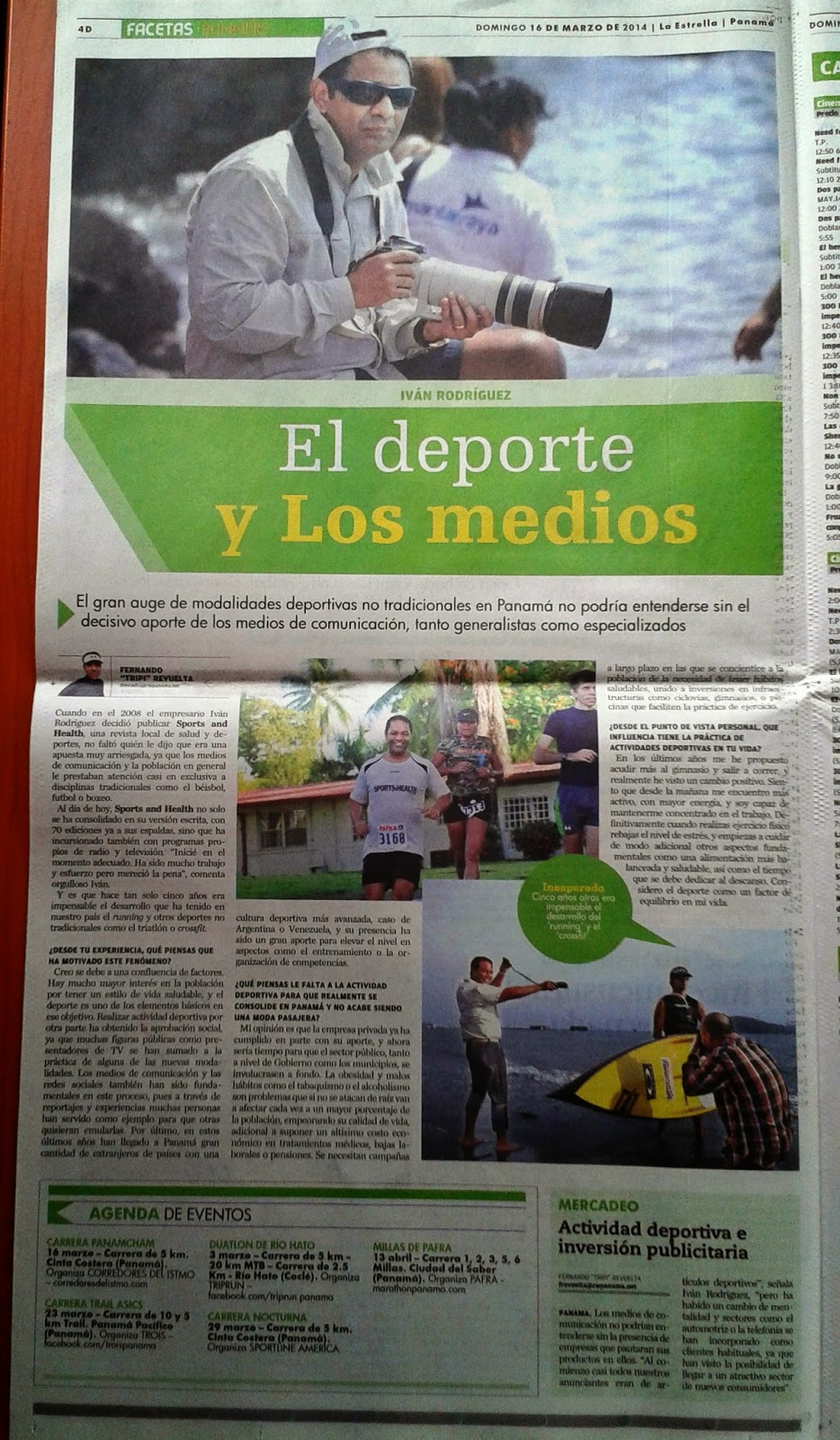 Entrevista a Ivan Rodriguez en La Estrella de Panamá