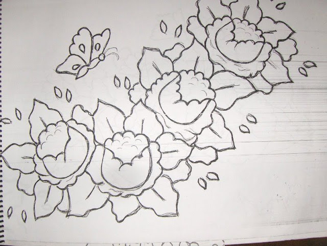 Art 39 san lia algumas flores para pintar - Pasos para pintar una pared ...