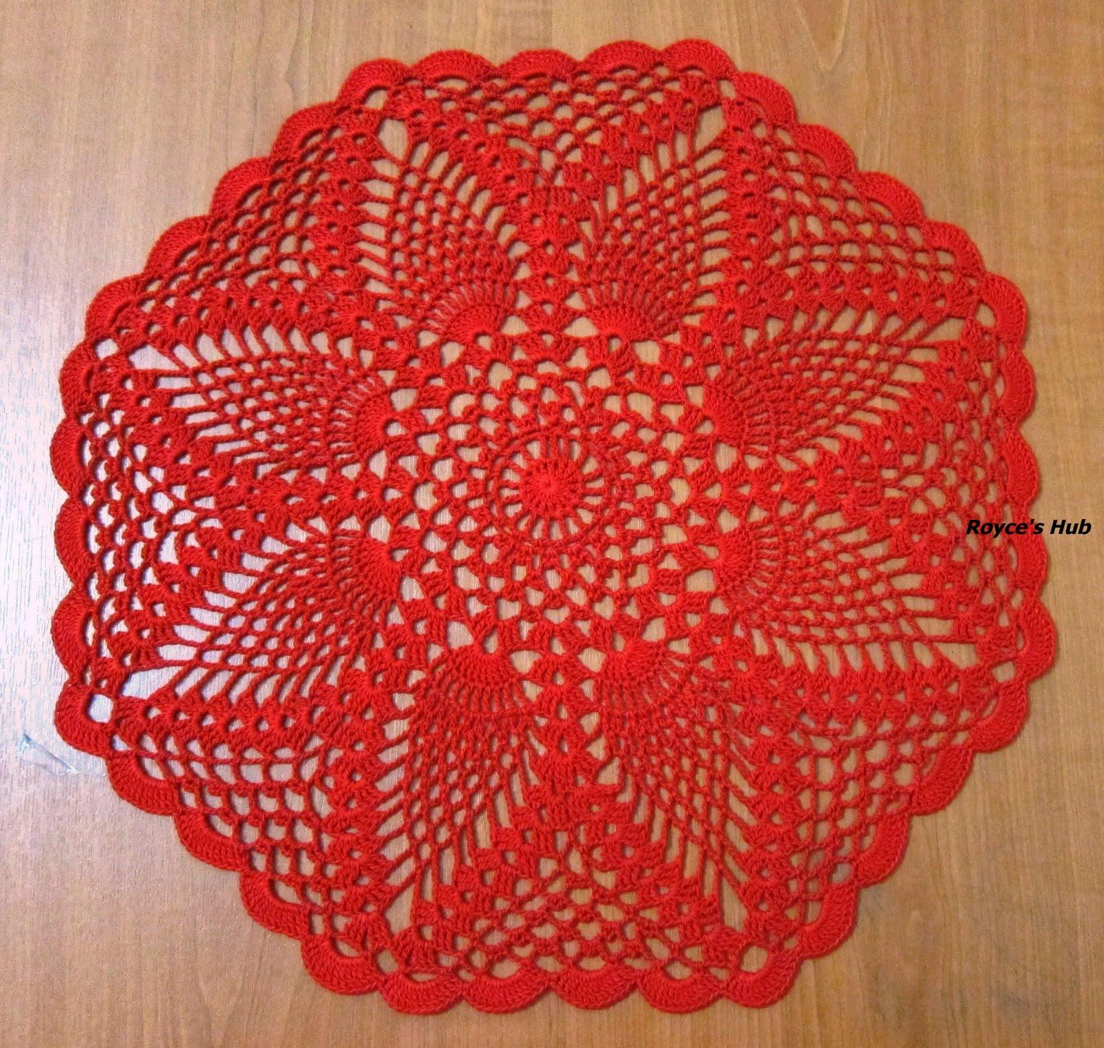 Royce\'s Hub: Crochet Pineapple Lace Octagon Doily